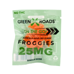 On The Go Froggie Gravity Dispenser 25mg by Green Roads